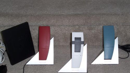 3 Bang & Olufsen BeoCom 1 Cordless Phones Charging + BeoLine PSTN Base System