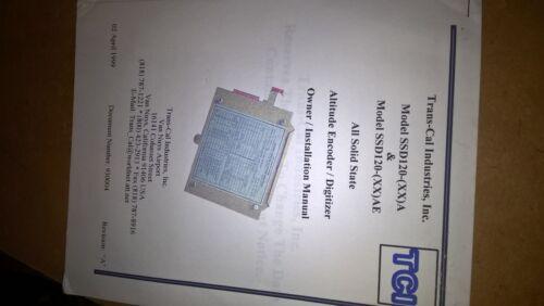 Trans-cal SSd120-XXA/XXAE Altitude Digitizer owner installation manual guide
