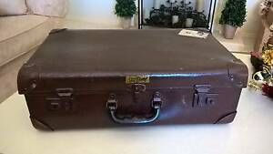 Vintage Suitcase with Vintage TAA Airlines Travel labels. Croydon North Maroondah Area Preview