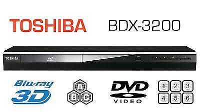 Toshiba 3D MULTI REGION BDX3200 Blu-ray Player ALL REGIONS FREE ABC DVD 1-6