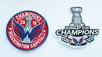 1  Lot Of  2  2018 Stanley Cup Champion Washington Capitals Patch Type  R    91