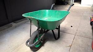 Green metal wheelbarrow Lindfield Ku-ring-gai Area Preview
