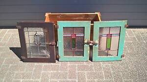 Antique Vintage Leadlight Stained Glass Panels - from $20ea Banyo Brisbane North East Preview