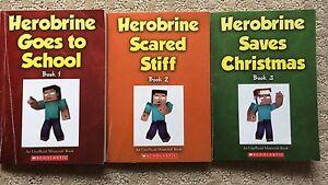 Lot of 3 Minecraft/Herobrine Novels