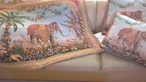 Vibrant Wall Tapestry and 4 Matching Cushions - Top Quality Inglewood Stirling Area Preview