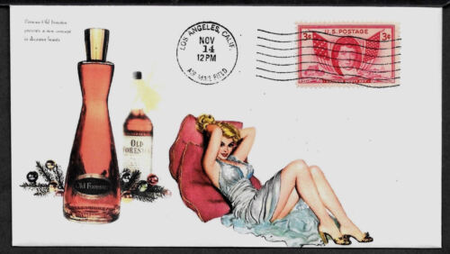 1950s Old Forester & Pin Up Girl Featured on Xmas Collector