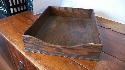 Vintage Weis Oak Desk Organizer Tray Dovetail Tray 12-12 10 X 3