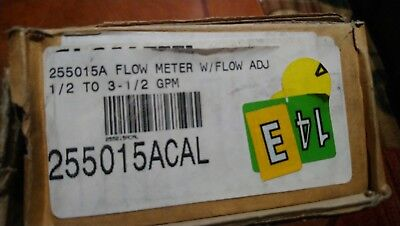 Flow Meter With Adj Flow 0.5 To 3.5 Gpm Part 255015acal New