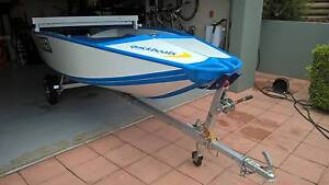 QUICKBOAT FOLDING BOAT, 8hp YAMAHA & MANGROVE JACK TRAILER Kenmore Brisbane North West Preview