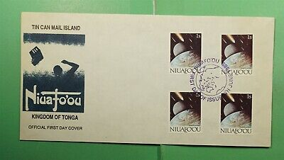 DR WHO 1989 TONGA NIUAFOOU FDC TIN CAN MAIL SPACE HALLEYS COMET COMBO  g13701
