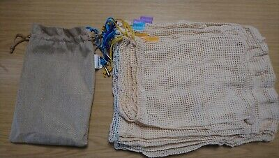 9 pack of reusable produce bags. Eco storage. Age UK