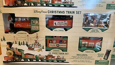 2019 Disney Parks Yuletide Farmhouse Mickey and Friends Christmas Train Set New ()