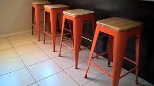 Steel stools with bamboo top Port Hedland Port Hedland Area Preview