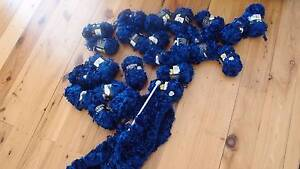 26 electric blue fashion knitting yarn balls + kneedles St Ives Chase Ku-ring-gai Area Preview