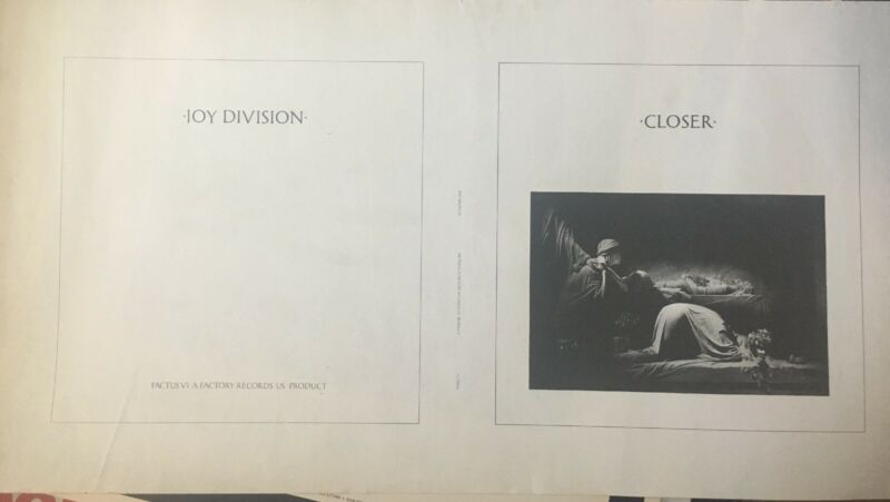 Joy Division Pre-Production Album Cover LP Slick Rare Rare Rare! Cool Poster