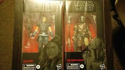 "Star Wars Black Series 6"" Action Figures. The Mandalorian And Cara Dune - Sealed"