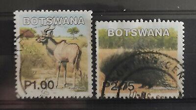 Botswana 2002 Mammals 1p – Kudu, 2p.75 – Porcupine USED