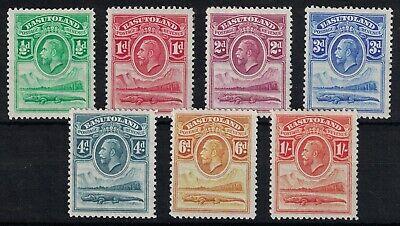 BASUTOLAND, 1933, KGV SHORT SET TO 1/-, SG1 - SG7, MOUNTED MINT.