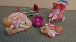 3 Dolls (Mattel / mini Baby Born and Berenguer) plus accessories Craigmore Playford Area Preview