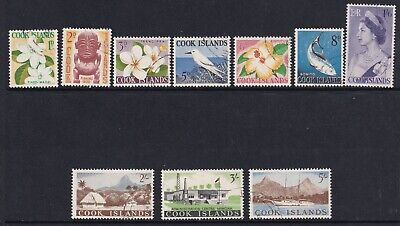 COOK ISLANDS-1963 Set to 5/- Sg163-173 Fine used