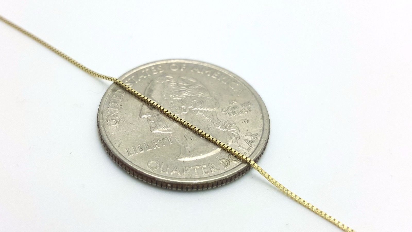 10K Solid Real Gold Italian Box Chain Men's Women's 16″ – 24″ inches brand new Fine Jewelry