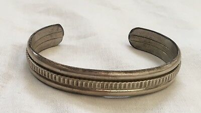 Attractive, Authentic Navajo Sterling Silver Bracelet