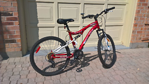 "CCM Vandal 24"" Full Suspension Mountain Bike. Rarely used."