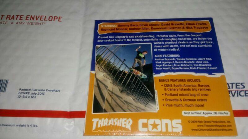 Thrasher Skateboard DVD New Sealed
