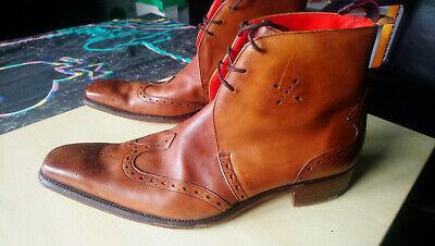 Jeffery West Flashman Boots 9 Rosewood Wooden Heel Leather sole High Status