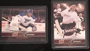 Pair of 2012-13 Upper Deck Canvas Cards