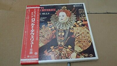 DONIZETTI ROBERTO DEVEREUX beverly sills JAPAN 3 LP BOX SET w/OBI+BOOKLET NM