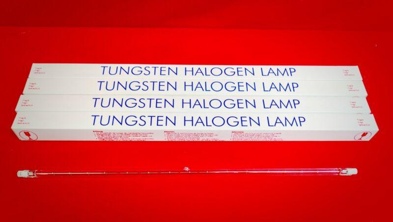 Lot of 4 New Tungsten Halogen Lamp Light Bulb 800W 220V 3200K length 40,5mm/16in