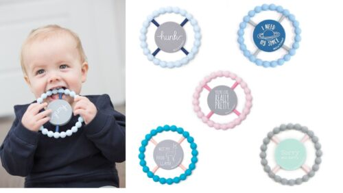 Silicone HAPPY Teether from Bella Tunno Baby 100% FDA Approved FUNNY SAYINGS