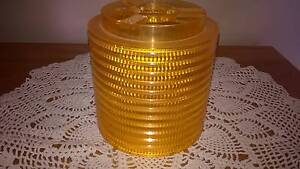 Vintage Retro Orange Plastic Light Shade - Small Golden Grove Tea Tree Gully Area Preview