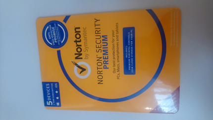 Norton Security 1 Year 5 Devices (New / Sealed)