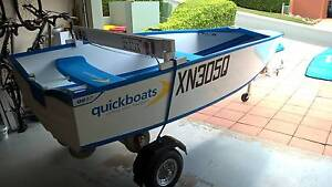 QUICKBOAT FOLDING BOAT with 8hp YAMAHA & MANGROVE JACK TRAILER Kenmore Brisbane North West Preview
