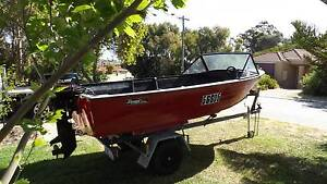 savage 4.3m-30hp mercury/electric 2012 low/hours-lic trailer Hillarys Joondalup Area Preview