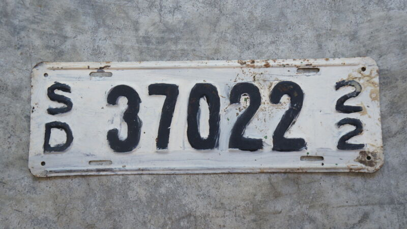 1922 South Dakota License Plate