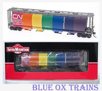 Intermountain 42500Sr Ho Canadian National Cn Circus Rainbow Cylindrical Hopper