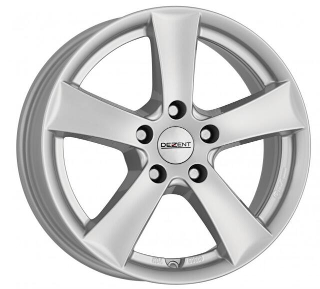 "18"" DEZENT TX SILVER ALLOY WHEELS ONLY NEW 5x114.3 RIMS"