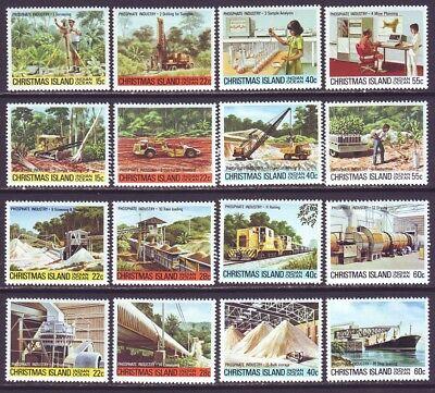Christmas Island 1980 SC 95-110 MNH Set Phosphate Mining ()