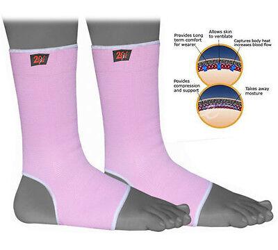 2Fit 1pair Damen Rosa Knöchel Fuß Kompression Hosenträger Mma Gym Verletzung