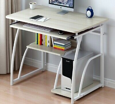 Corner Small Computer Desk Shelves Laptop Gaming PC Table Home Office Furniture
