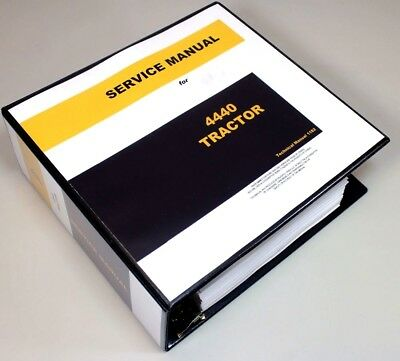 Service Manual For John Deere 4440 Tractor Technical Repair Shop Book Overhaul