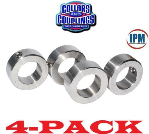 "4-PACK!  NEW!  7/16"" ID Set Screw Shaft Collar, 1-PC Steel Zinc Plated SC43Z"
