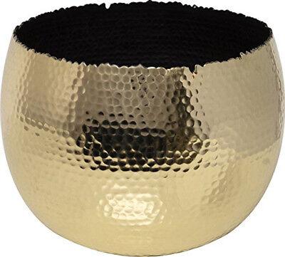 Ivyline AC19G 19/14 cm Hammered Bowl - Gold/Black