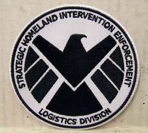 AVENGERS-AGENTS-OF-SHIELD-TV-Series-3-5-Black-White-Logo-Patch-ASPA-001
