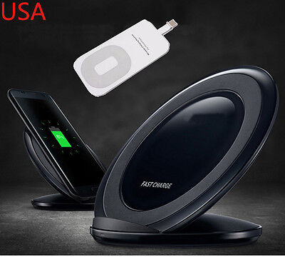 Wireless Charging Stand Qi Fast Charger Dock For Apple Iphone 6 6S 7 Plus