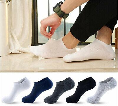 10Pair Mens Cotton Sport Short Soild Ankle Socks Casual Low Cut Non-Slip Hosiery