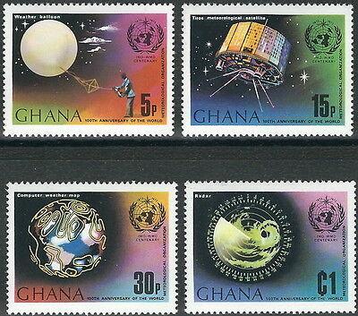 Ghana - Meteorologische Zusammenarbeit Satz postfrisch 1973 Mi.Nr. 520-523